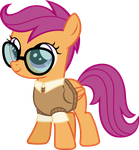 Nerdy Scootaloo by Magister39