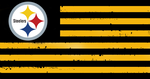 Pittsburg Steelers Tattered Flag by SmokeU