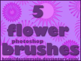 5 Flower Brushes by tina1138