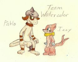PMD-E Gift Art: Team Watercolor by GG3095