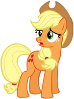 My third vector of Applejack. by Flutterflyraptor