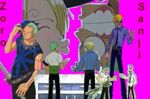 Zoro and Sanji wallpaper by OnePiece-Rules
