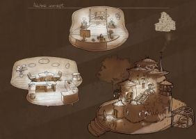 An adobe house concept by ignilibrium
