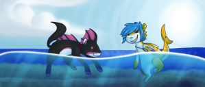 Going For A Swim by DruidTeeth