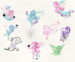 Fairie Tattoos by LittleGreenHat
