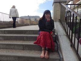 Gypsy barefoot on stairs by GypsyBarefootCecilia