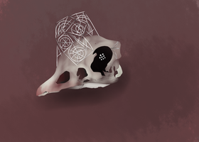 The skull of a Ducklett by AmberLepu