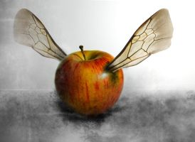 Flying Apple by IrondoomDesign