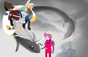 Adventure Time with Fionna and Cake wallpaper by HystericDesigns