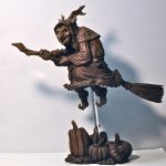 La Befana, wood finish, 2 by DellamorteCo
