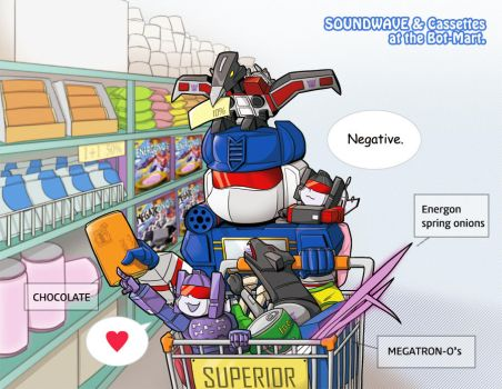 SOUNDWAVE and Cassettes by Tyr44