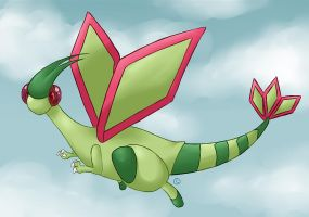 Rasberry the Flygon by lowlaury
