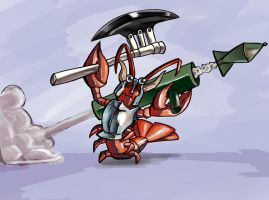 Battle Lobster by CrypticManifestation