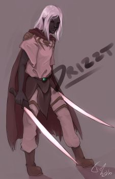 Lovely Drizzt by FreewolfD