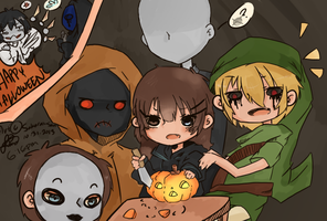 Oct.31.2013 Happy Halloween! Creepypasta style by Sakurai-sanxIceland