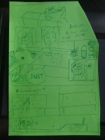 The new desk (dust) comic by Arkare