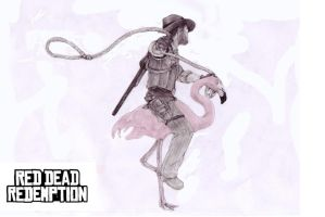 Red Dead - Flamingo Mount by ZZC