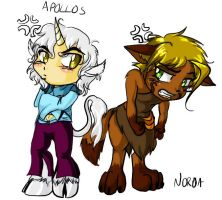 Chibi Apollos and Noroa by modesty