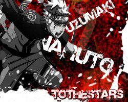 Naruto Uzumaki Shippuden Splat Wallpaper by To-TheStars
