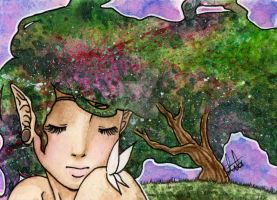 Aceo-Card #14 ''Dreaming Tree'' by ShihonRainbow