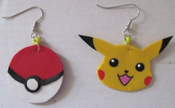 Pokemon Earrings by puppy-lou