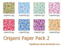 Origami Paper Pack 2 by MapleRose-stock