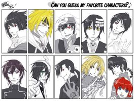 Guess my fav anime characters by cherubchan