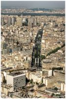 Paris view from Montparnasse by superjuju29