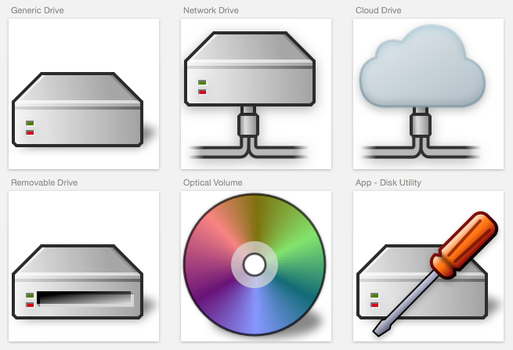 Classic Mac Style Drives for OS X by marcello-c