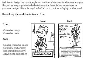OC trading card guidelines by Naoru