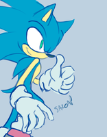 Sonic doodle by SA2OAP