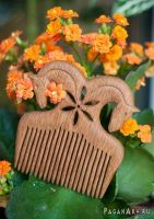 Comb with two horses by pagan-art