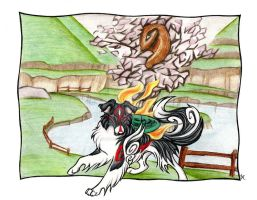 Okami - Border Collie Goddess by WildSpiritWolf