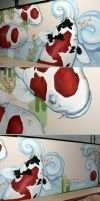 Koifish wall painting by Artjunk