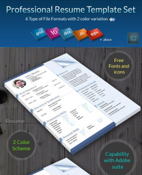 Professional Resume Template Set by khatrijiya
