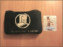 Professor Layton Black Pouch by BenjaminHunter