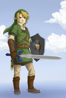 right-handed Link ftw by Luphin