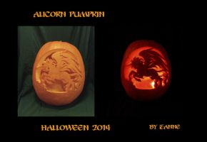 Alicorn Pumpkin 2014 by Zanne