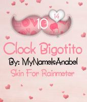 Skin for Rainmeter: Clock Bigotito by MyNameIsAnabel