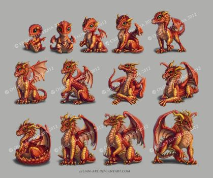 characters for My Dragon game by Lilian-art