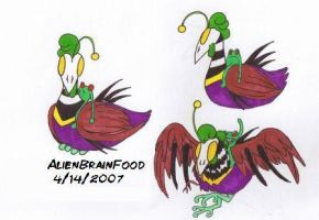 Vizaret, the Alien Chicken by AlienBrainFood