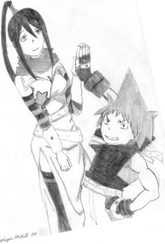 Tsubaki and Black Star by trainsgirl13