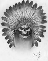Headress Skull Tattoo Art by RNABrandEnt