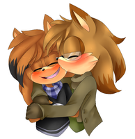 AT: Let me kiss your face. by Sammi-Arts