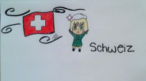 Chibi Switzerland by KaptainKawaii