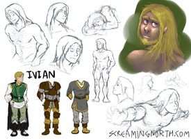 Ivian Character Sketches by TheScreamingNorth