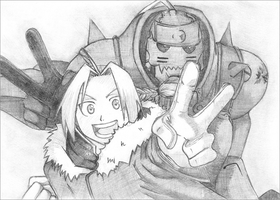 Elric Brothers. by STRAWBERRYCURTIS