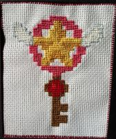 Cardcaptor Sakura Star Key Cross-Stitch by Kai-sama