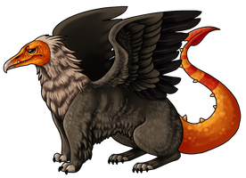 Vulture Gryphon Adoptable by Kingfisher-Gryphon
