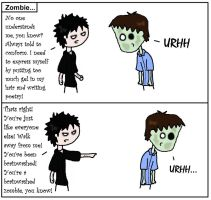 Zombie chat by Peccadillos